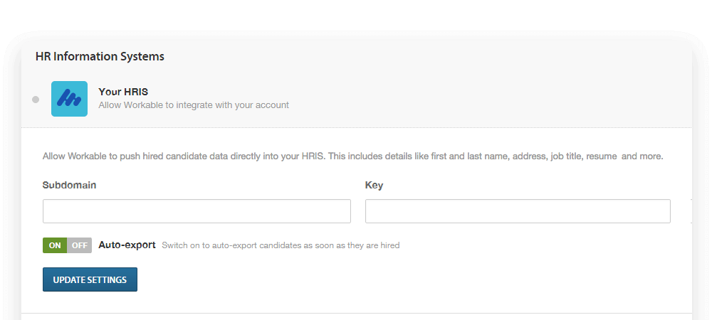 HRIS or onboarding tool for Workable