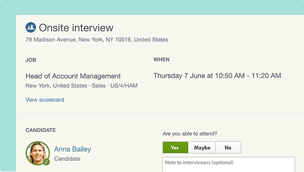 Simplify interview scheduling Workable